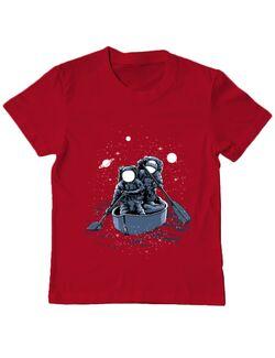 Tricou ADLER copil Across the galaxy Rosu