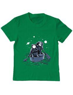 Tricou ADLER copil Across the galaxy Verde mediu