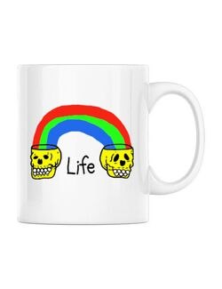 Cana personalizata Life Alb