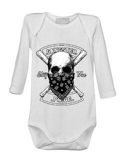 Baby body Gangster skull Alb