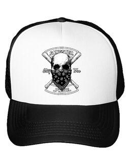 Sapca personalizata Gangster skull Alb