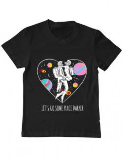 Tricou ADLER copil Space love Negru