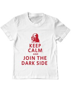 Tricou ADLER copil Join the darkside Alb