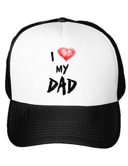 Sapca personalizata I love my dad Alb