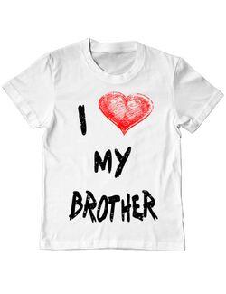 Tricou ADLER copil I love my brother Alb
