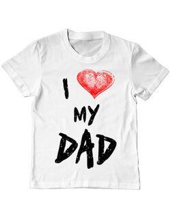 Tricou ADLER copil I love my dad Alb
