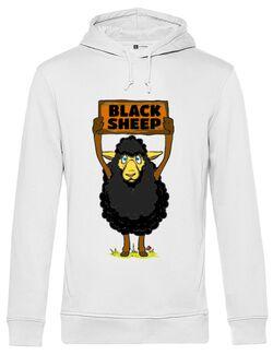 Hoodie barbat cu gluga Black sheep Alb