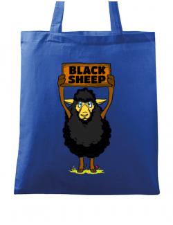 Sacosa din panza Black sheep Albastru regal