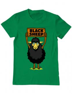 Tricou ADLER barbat Black sheep Verde mediu