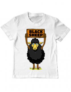 Tricou ADLER copil Black sheep Alb