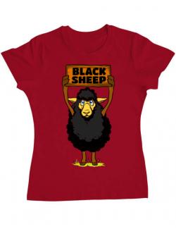 Tricou ADLER dama Black sheep Rosu