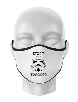 Masca personalizata reutilizabila Storm trooper Alb