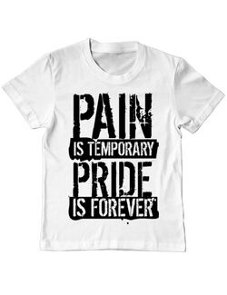 Tricou ADLER copil Pain and pride Alb