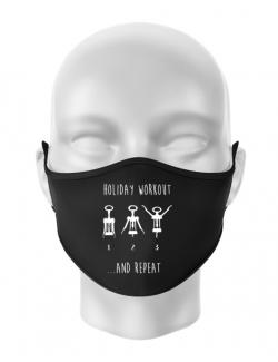 Masca personalizata reutilizabila Holiday workout Negru