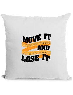 Perna personalizata Move it and lose it Alb