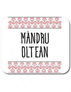 Mousepad personalizat Mandru oltean Alb