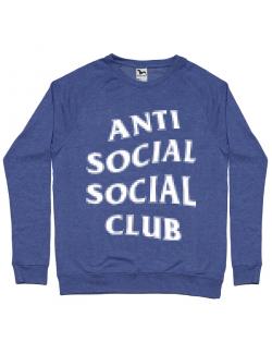 Bluza ADLER barbat Anti social Albastru melanj