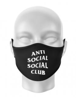 Masca personalizata reutilizabila Anti social Negru