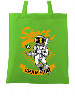 Sacosa din panza Space champion Verde mar