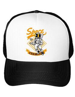 Sapca personalizata Space champion Alb