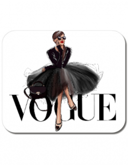 Mousepad personalizat Little black tutu Alb