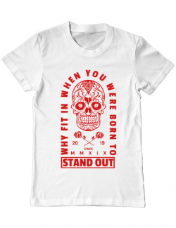 Tricou ADLER barbat Born to stand out Alb
