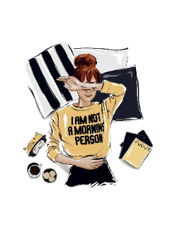 Tricou I am not a morning person