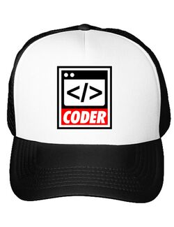 Sapca personalizata Coder Alb
