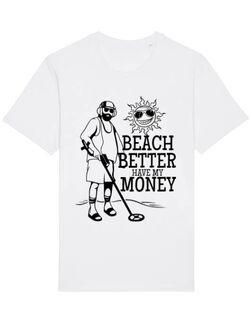 Tricou STANLEY STELLA barbat Beach better have my money Alb