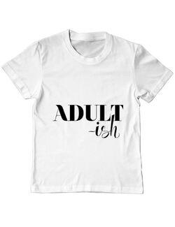 Tricou ADLER copil Adultish Alb