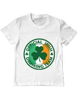 Tricou ADLER copil Irish Drinking Team Alb