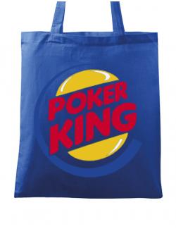 Sacosa din panza Poker King Albastru regal