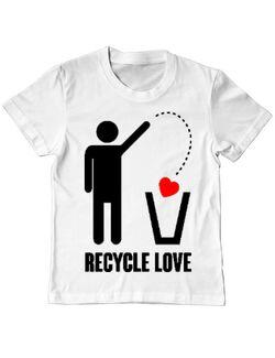Tricou ADLER copil Recycle love Alb