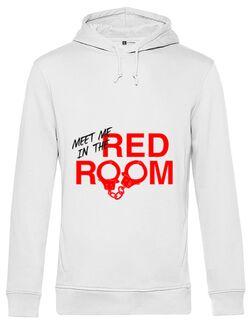 Hoodie barbat cu gluga Red room Alb