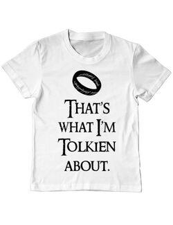Tricou ADLER copil Tolkien Alb