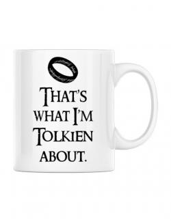 Cana personalizata Tolkien Alb