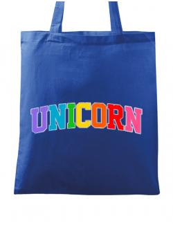Sacosa din panza Unicorn Albastru regal