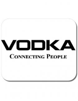 Mousepad personalizat Vodka Alb