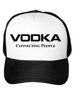 Sapca personalizata Vodka Alb
