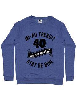 Bluza ADLER barbat 40 de ani Albastru melanj