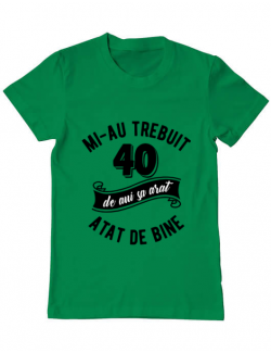 Tricou ADLER barbat 40 de ani Verde mediu