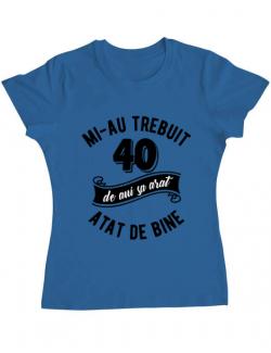 Tricou ADLER dama 40 de ani Albastru azuriu