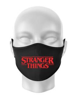 Masca personalizata reutilizabila Stranger things Negru
