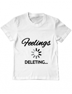 Tricou ADLER copil Deleting feelings Alb