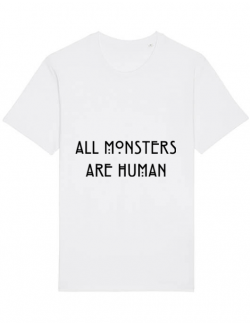 Tricou STANLEY STELLA barbat All monsters are human Alb