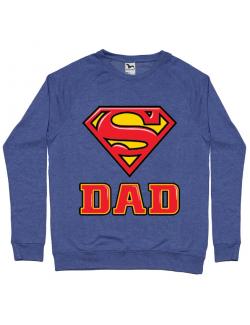 Bluza ADLER barbat Super Dad Albastru melanj