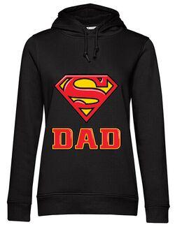 Hoodie dama cu gluga Super Dad Negru