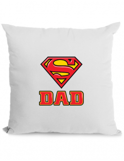 Perna personalizata Super Dad Alb