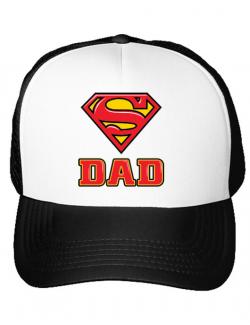 Sapca personalizata Super Dad Alb