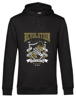 Hoodie barbat cu gluga Revolution Negru